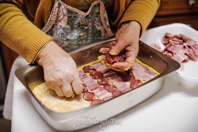 making bola de carne (Portuguese meat cake) (4)