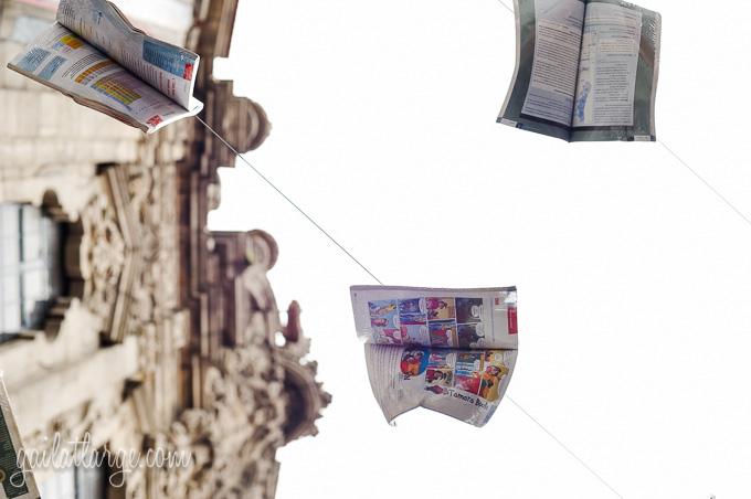 Flying Books Over Rua Das Flores, Porto (1)