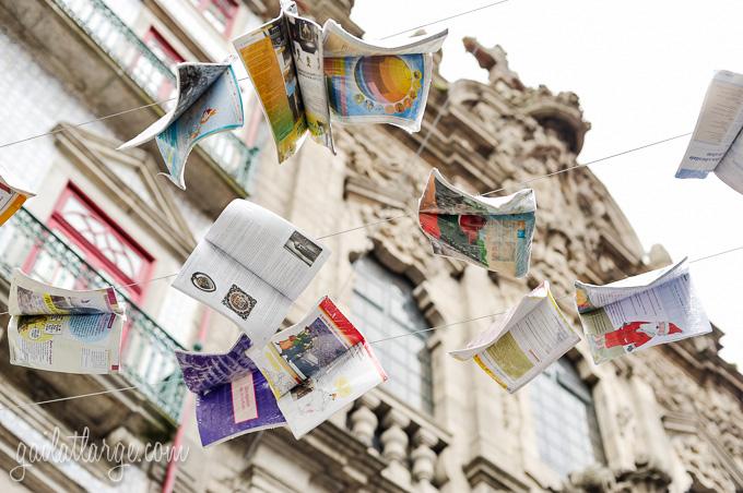 Flying Books Over Rua Das Flores, Porto (2)
