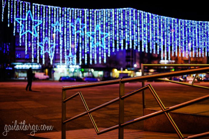 Christmas lights in Maia, Portugal