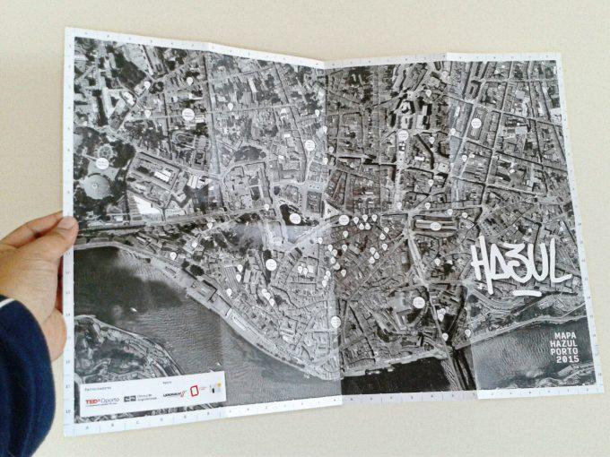 Hazul street art map of Porto