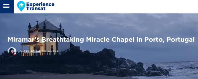 Miramar's Breathtaking Miracle Chapel in Porto, Portugal