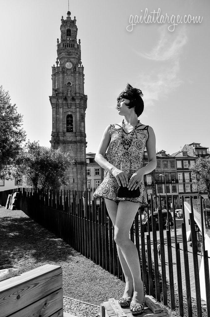 Torre dos Clérigos, Porto | model: Jessica Mezey