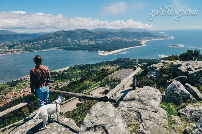 the view of Portugal's northwestern corner from Monte de Santa Tecla in Galicia